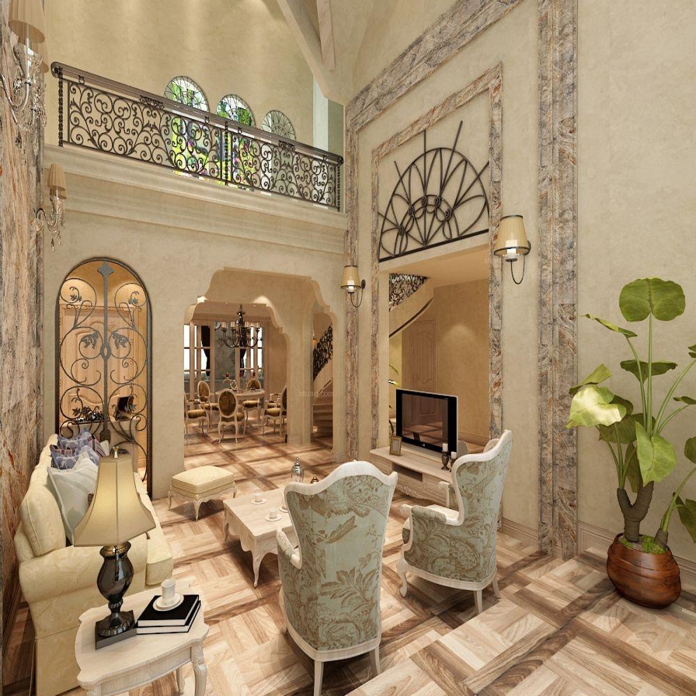 别墅美式风格餐厅_金地檀郡280平美式乡村装修效果图