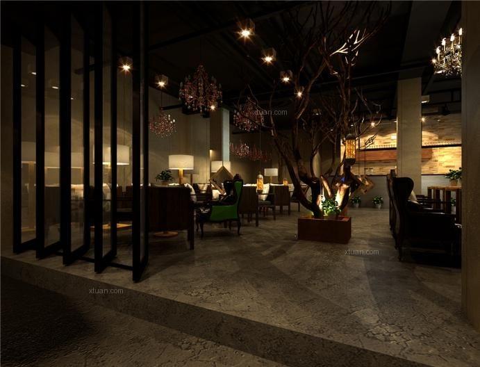 洛可可风格咖啡馆_喵先生咖啡店装修效果图-x团装修网