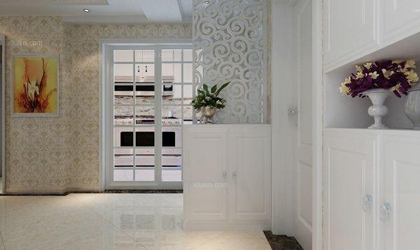 三室两厅简欧风格过道_长水航城95平米简欧风格装修图