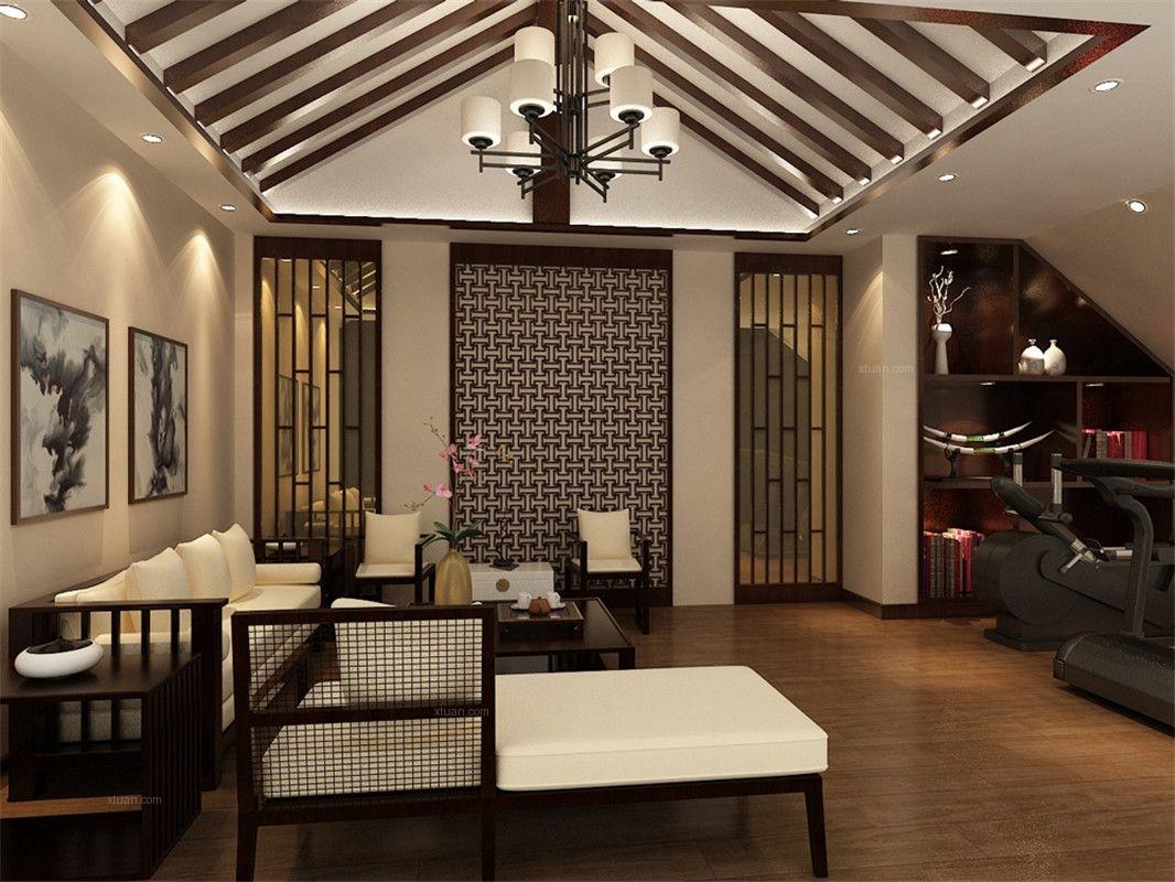 长泰东郊御园别墅装修新中式风格设计
