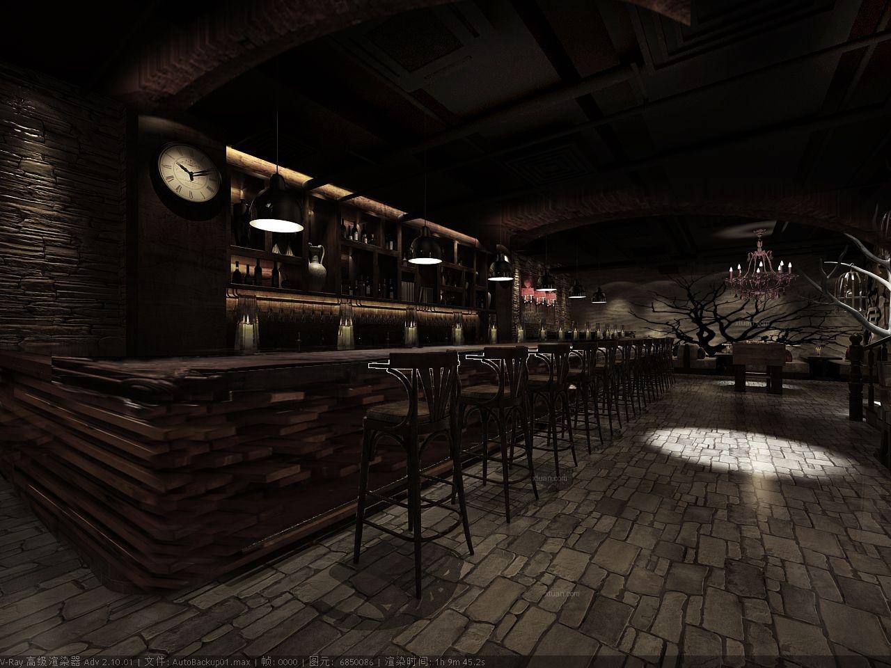 angelina咖啡酒吧装修效果图