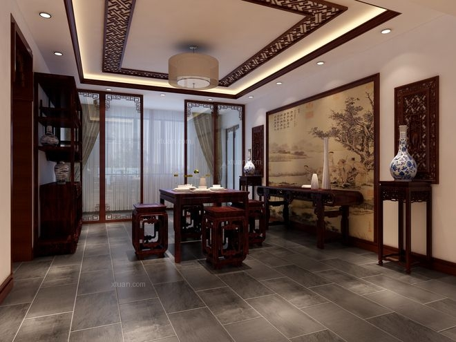 上林溪南区 二居室 中式