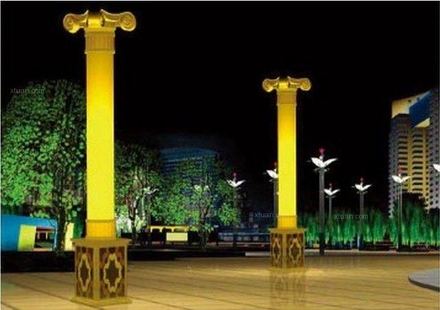 仿云石景观灯 透光石景观灯 云石广场灯柱图片