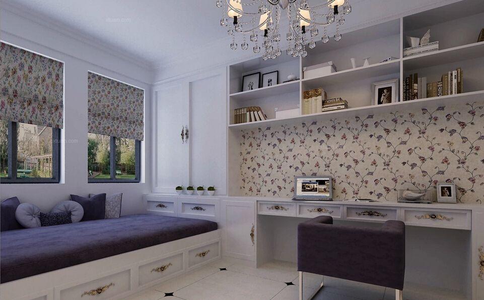 三居室欧式风格主卧室