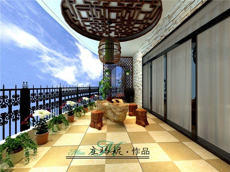南宁水悦龙湾160平米古典中式风格装修设计案例