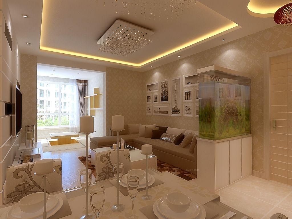两室一厅简欧风格客厅_盛世田园居97简欧风格装修效果图片