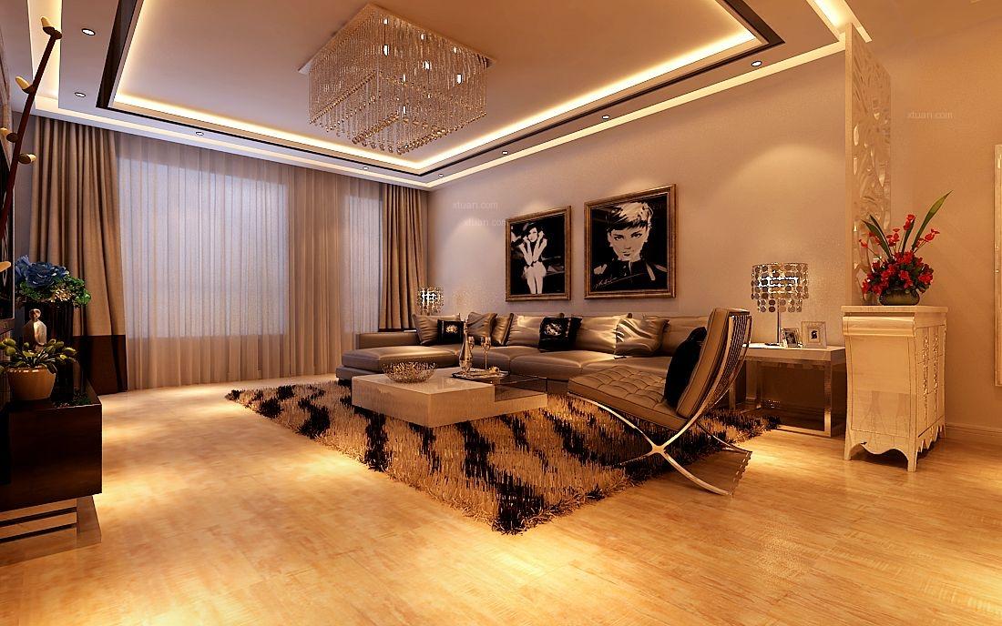 三居室现代风格客厅_上和园著-港式风格-哈尔滨麻雀