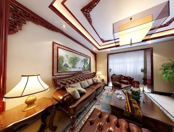 三居室中式风格客厅榻榻米