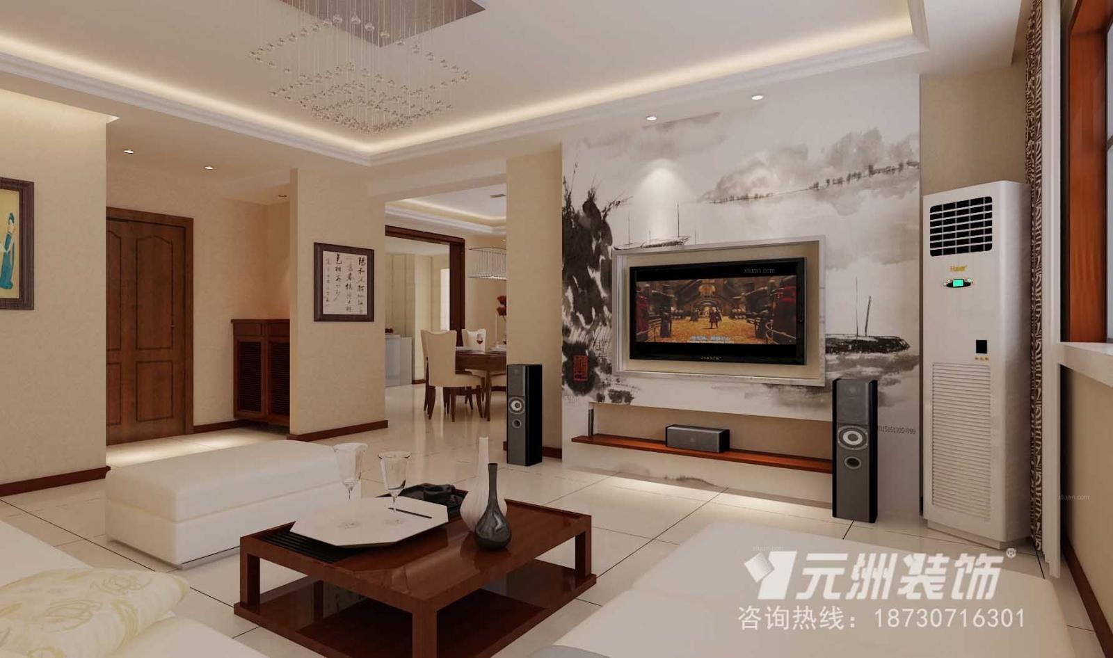 万泰丽景180平米简中式风格装修设计