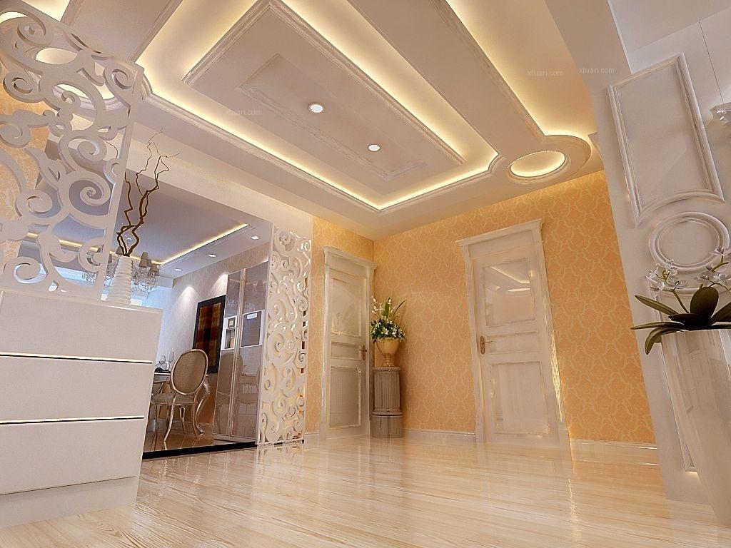 两室一厅简欧风格玄关_城建北尚105平简欧风格装修图图片