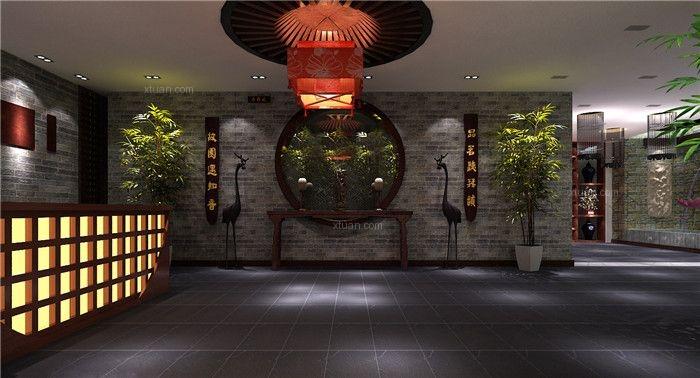 中式风格茶馆_茶餐厅会所中式装修效果图