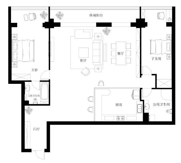 【方圆经纬】118平浪漫简约风情的装修设计图