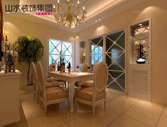 复式楼欧式风格餐厅_碧湖云溪欧式风格180平米装修图图片