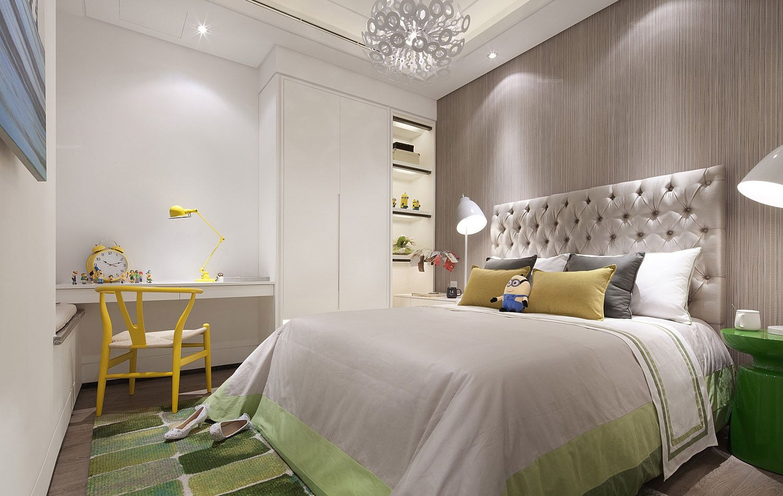 三室两厅现代风格卧室_世茂玉锦湾装修效果图