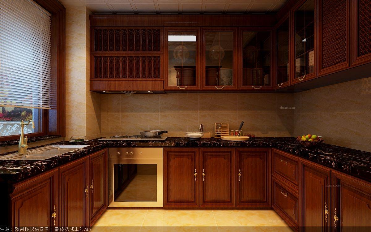 三室一厅欧式风格厨房