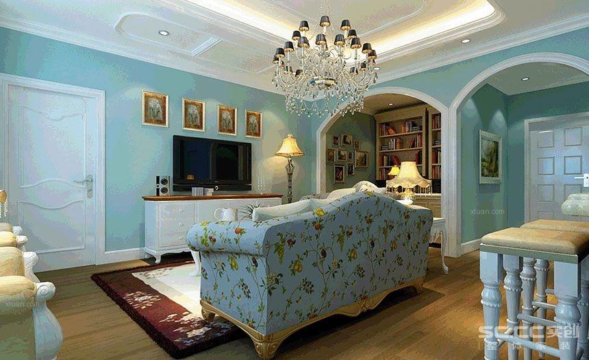 【兰州装饰美图】<瑞安小区>60平地中海之家