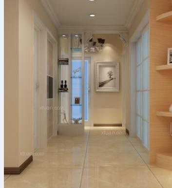 四居室现代风格过道隔断
