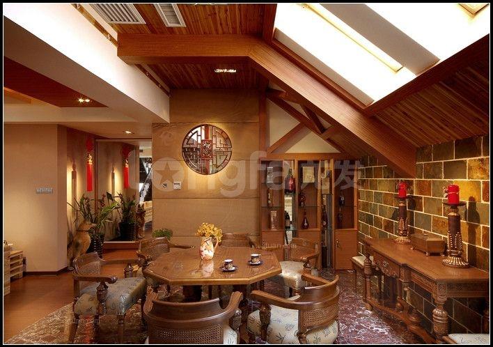 四居室英式风格餐厅_古典英伦装修效果图-x团装修网
