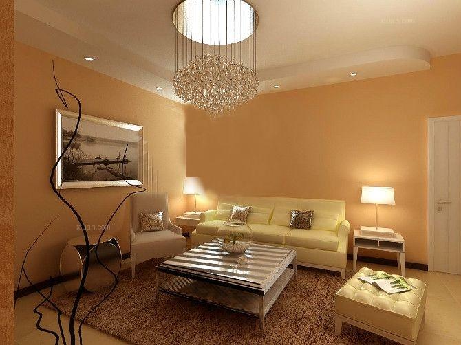 两居室现代简约客厅沙发背景墙