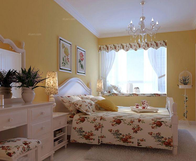 两居室现代简约主卧室卧室背景墙