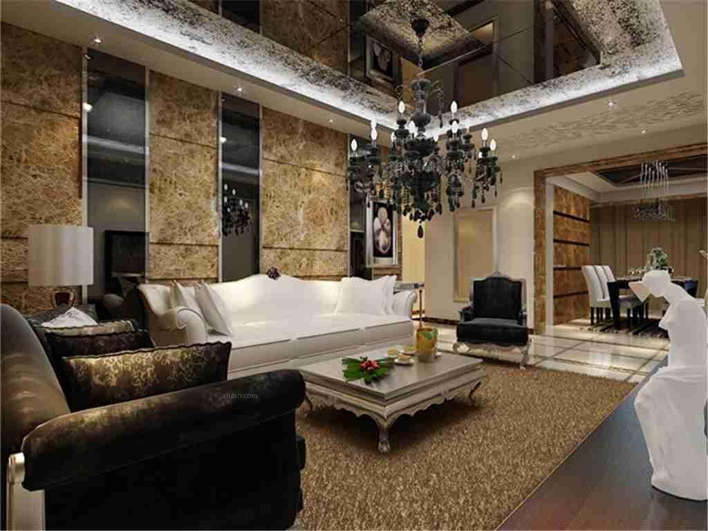 三室两厅欧式风格客厅沙发背景墙图片