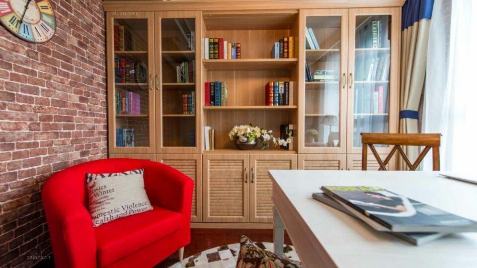 两室两厅现代简约书房