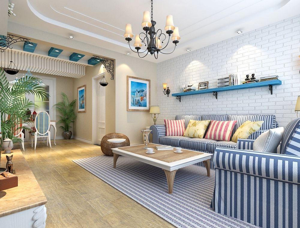 鸿海家园90平地中海风格