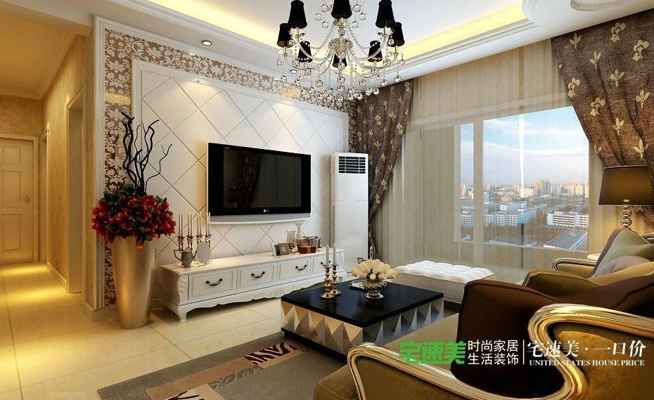 长江湾1号3室2厅118平欧式风格装修效果图