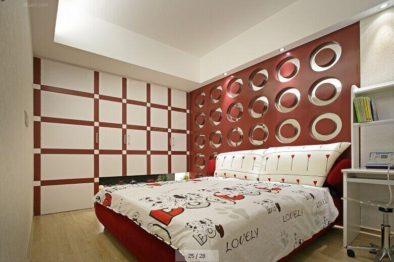 跃层现代简约卧室