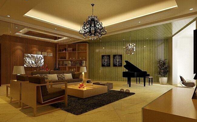凤凰御景现代简约95平米三房二厅一卫明快装修效果图