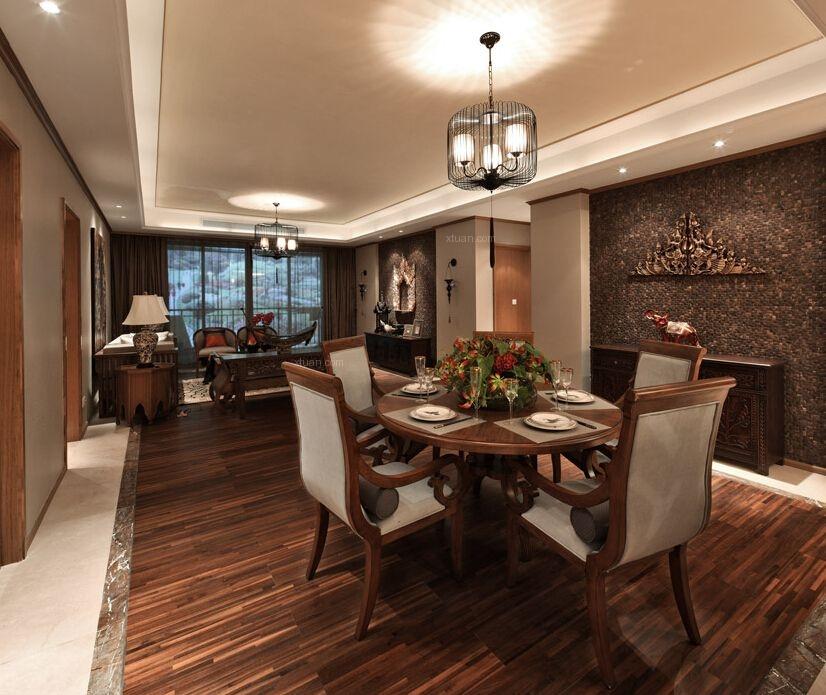 三居室东南亚风格餐厅