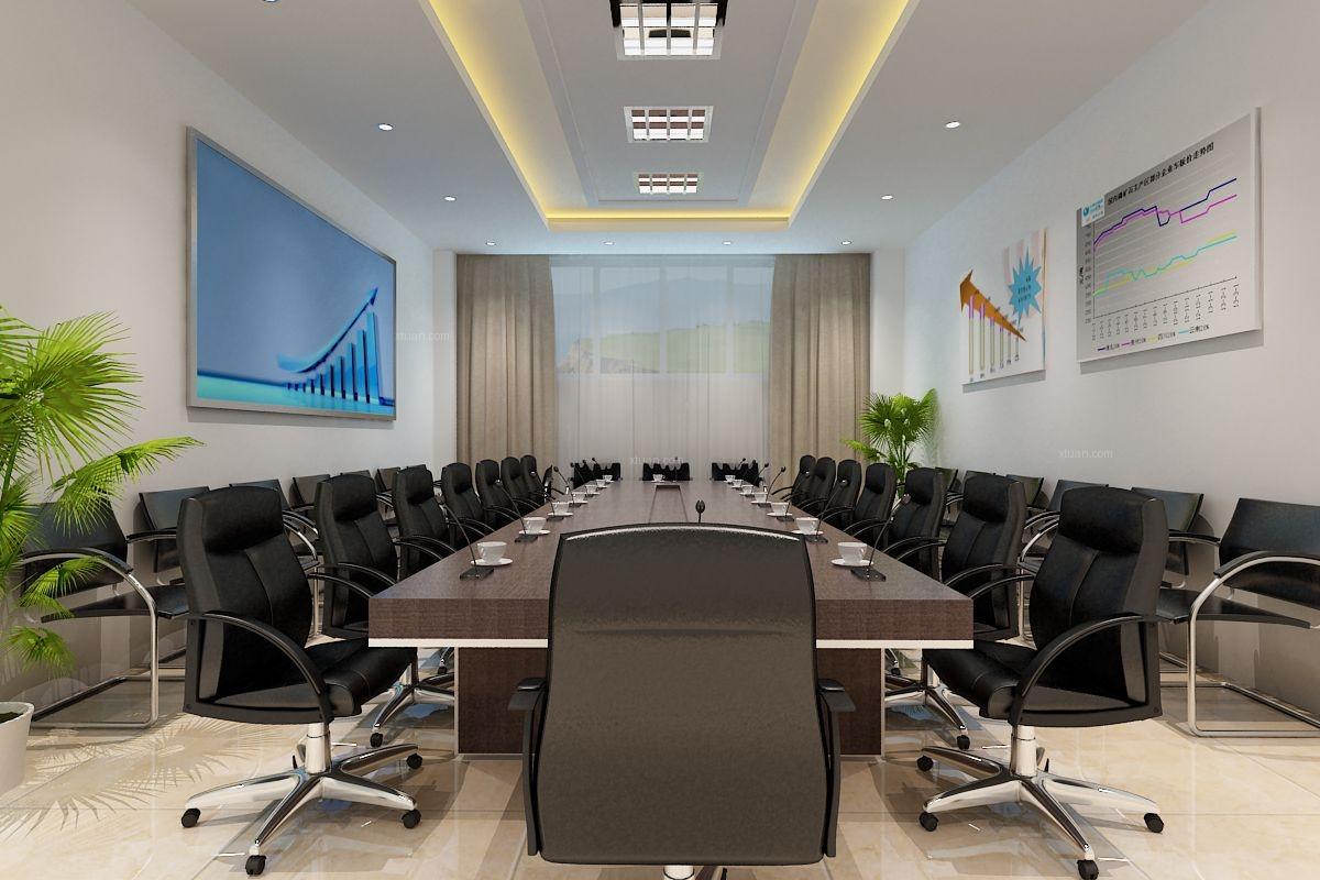 现代风格办公室_投资公司装修效果图