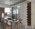 【精诚装饰】实木打造99平最质朴二居室