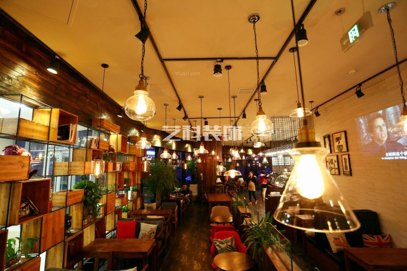 咖啡厅_青岛咖啡馆之咖啡陪你装修效果图-x团装修网