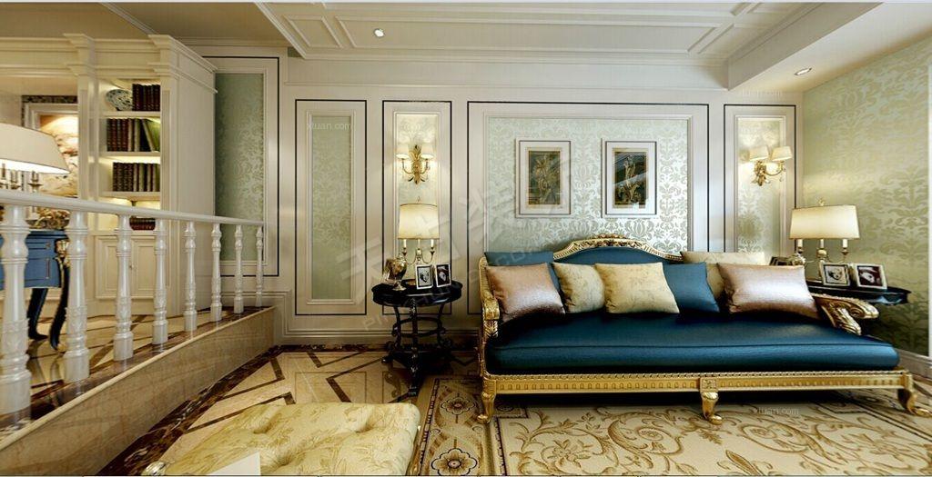 三居室新古典客厅软装_新古典主义风格-南坪天古装饰图片