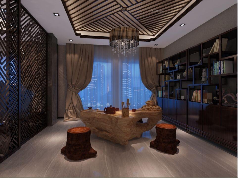 三居室中式风格休闲区图片