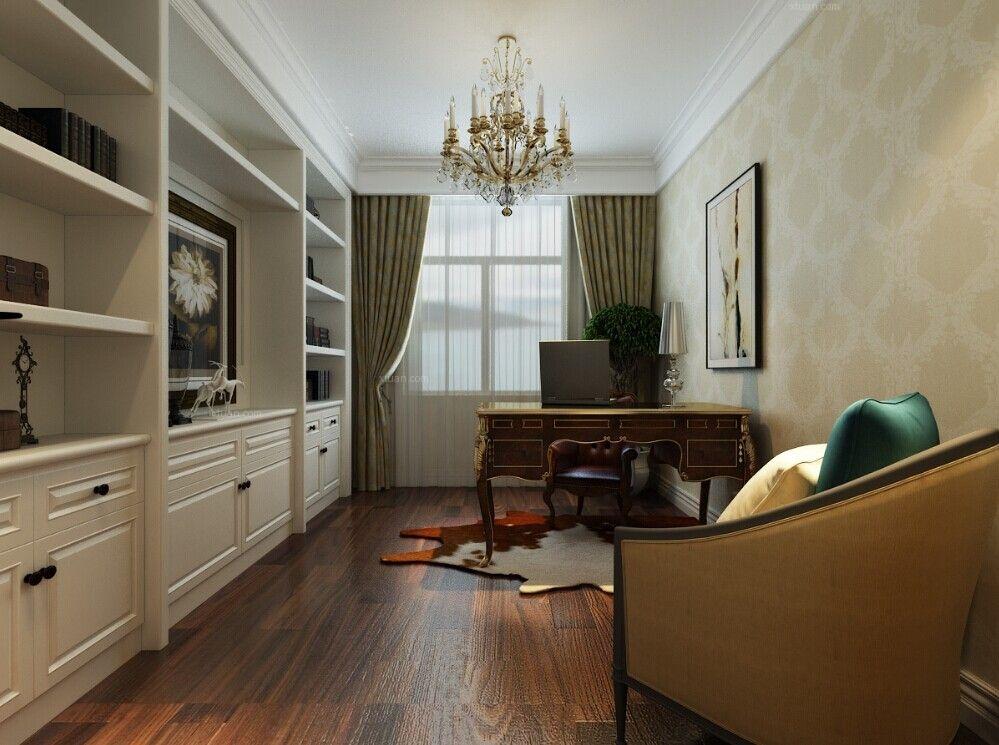 四居室法式风格书房照片墙图片