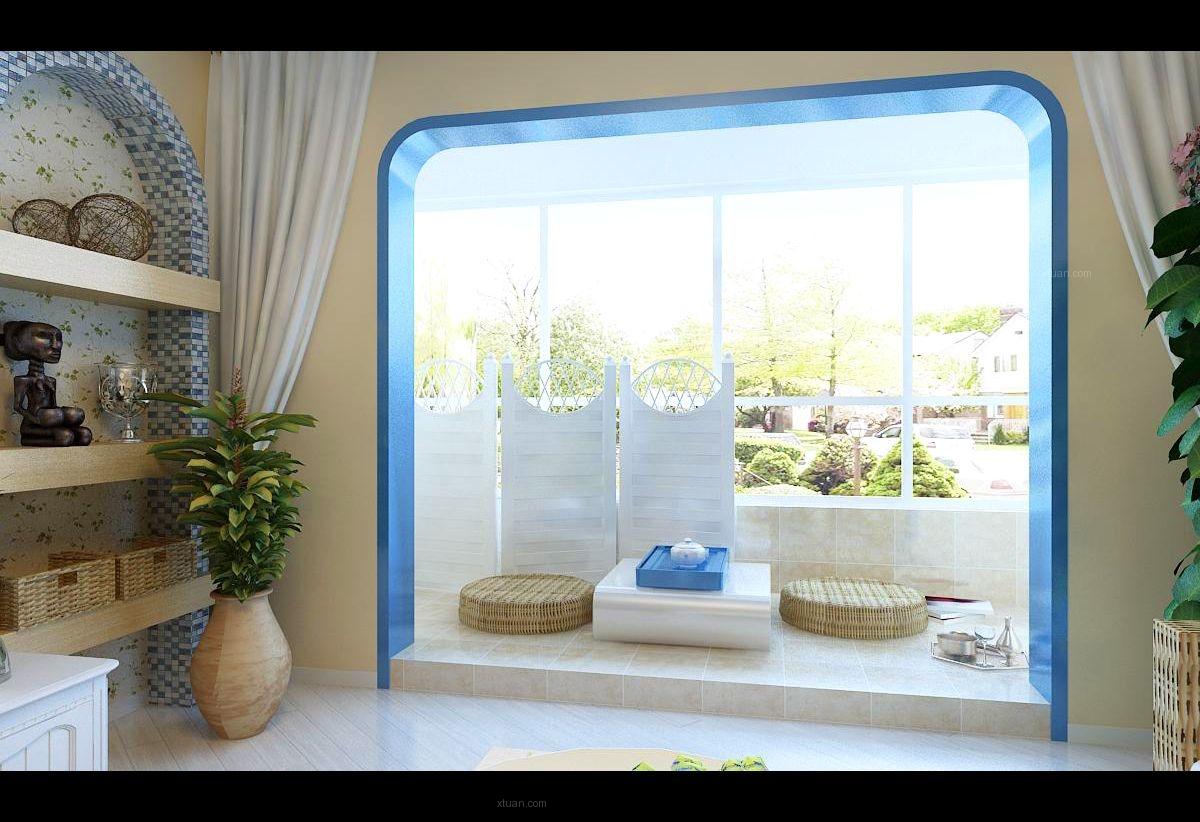 两居室地中海风格阳台_御笔华章-二居室装修效果图