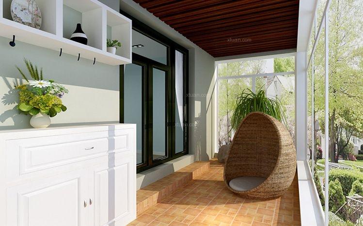 三居室美式风格休闲区