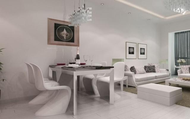 龙湖水晶郦城三室两厅87平米现代风格