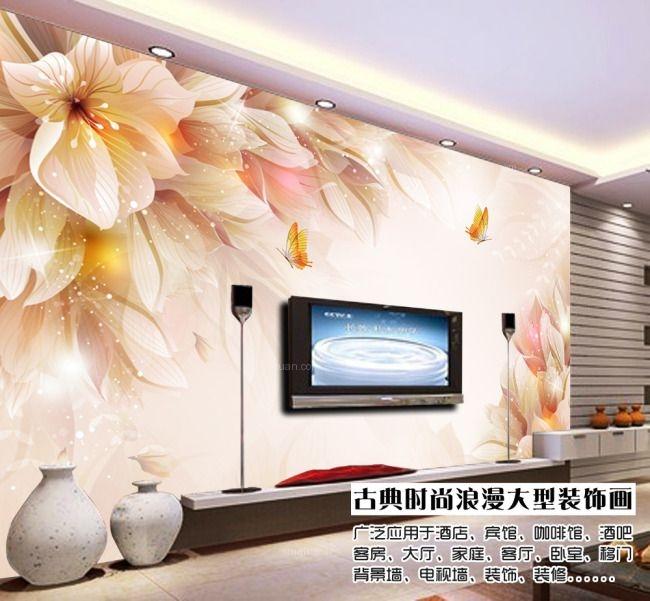 荆州装饰壁画背景墙