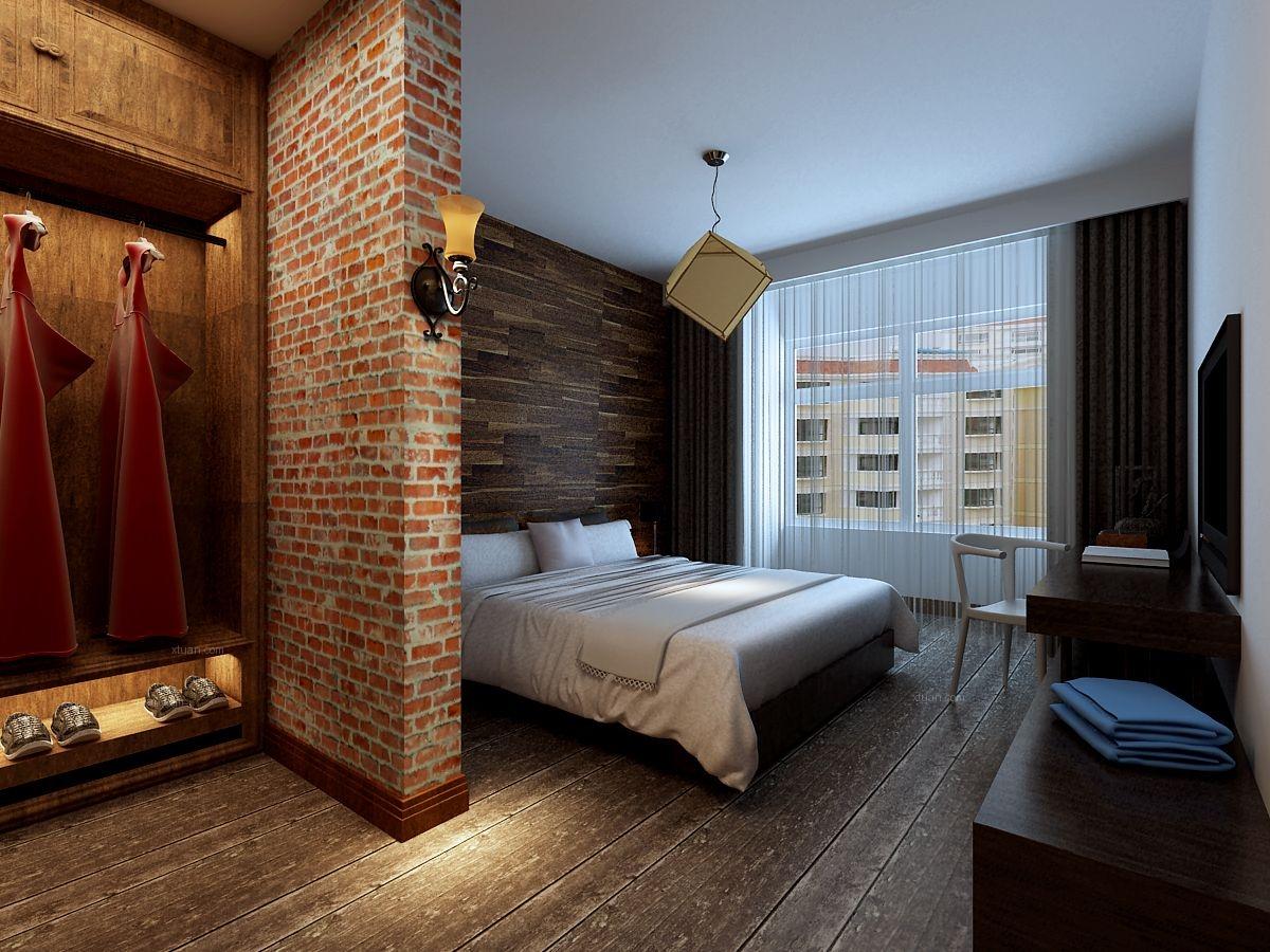 三居室法式风格卧室_雅居乐花园装修效果图图片