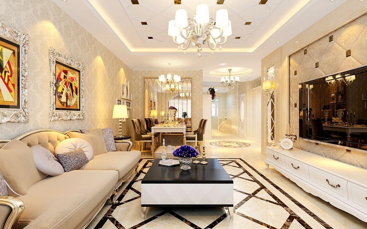 和苑小区-简欧风格-哈尔滨麻雀装饰公司装修效果图