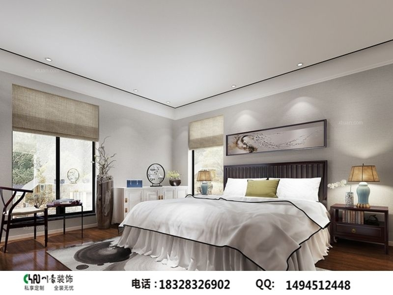 南湖国际中式风格装修案例