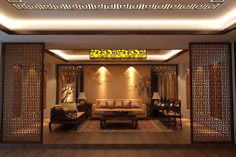 中式风格_力豪仿古砖展厅装修效果图图片