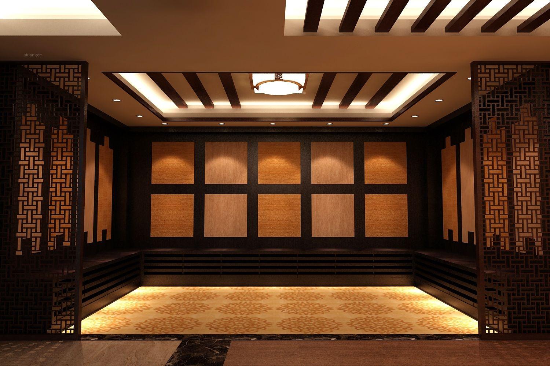 中式风格_力豪仿古砖展厅装修效果图-x团装修网图片