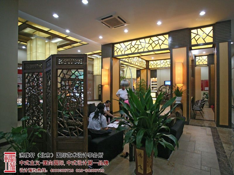 新中式售楼处,高档奢华富有内涵装修效果图