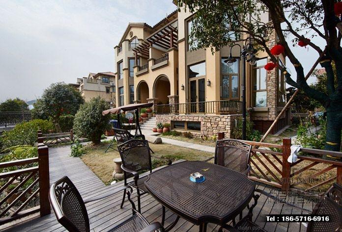 独栋别墅中式风格阳台入户花园