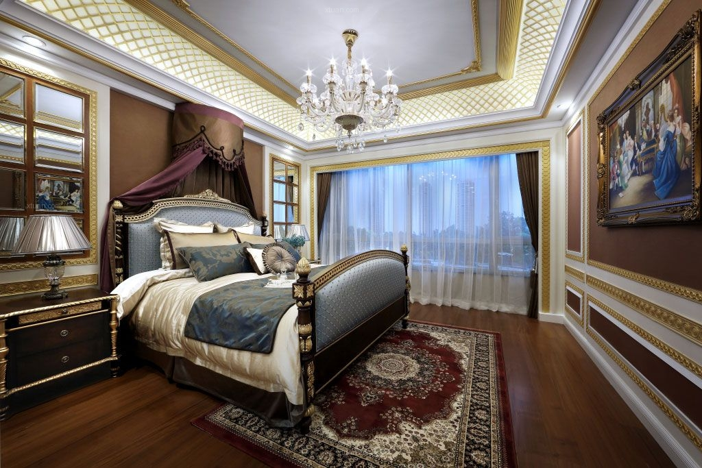 大户型欧式风格主卧室图片