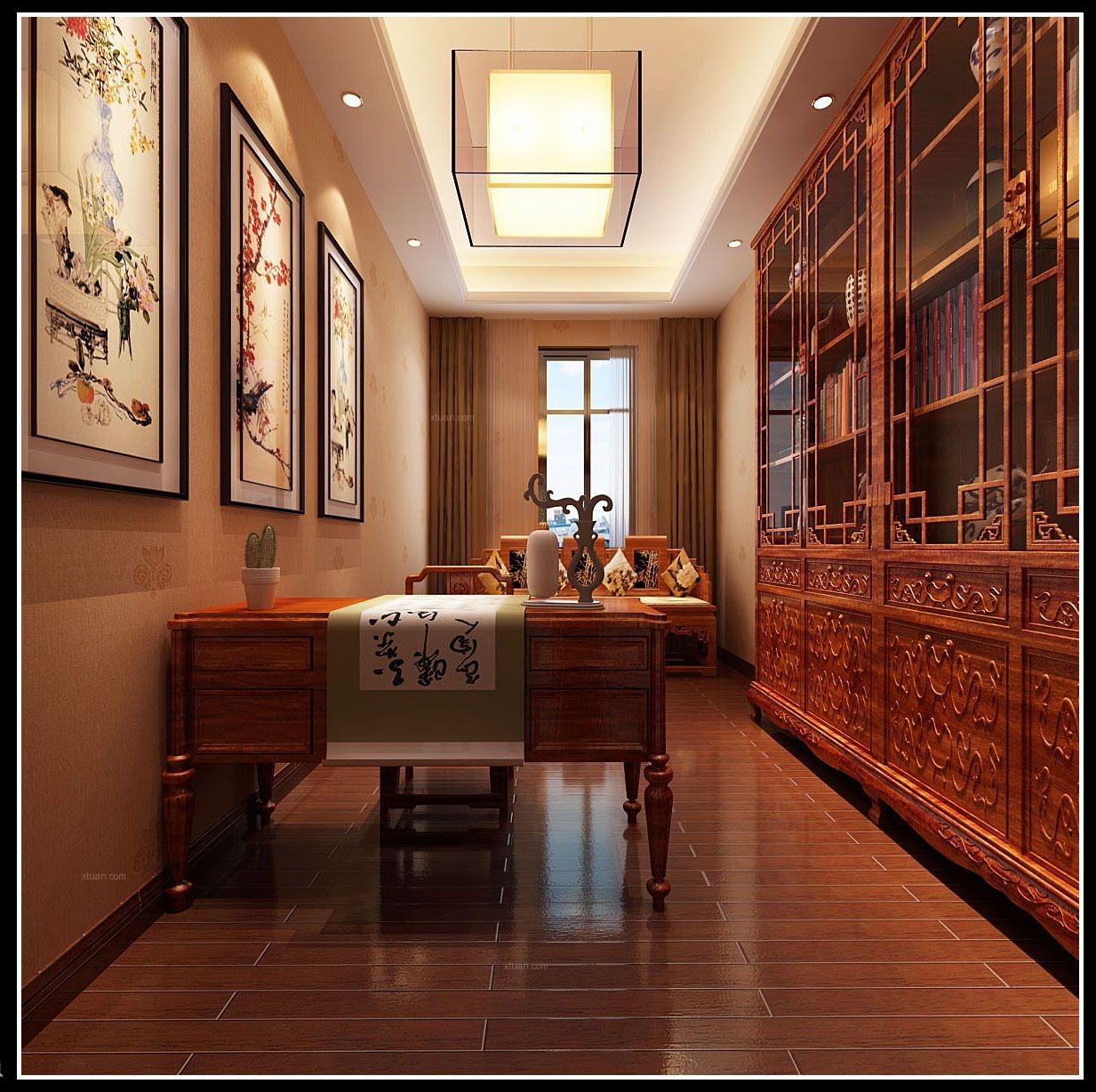 四居室简约风格书房